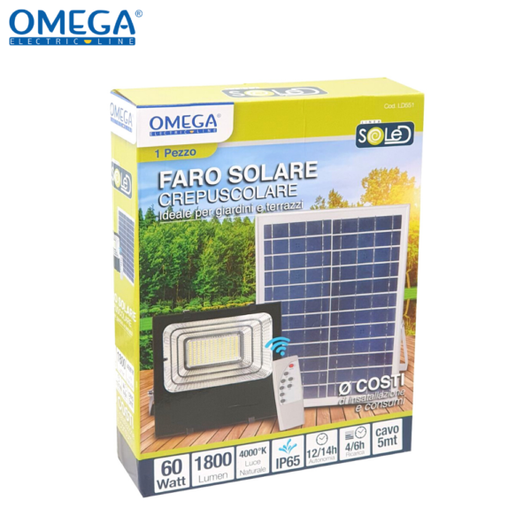 Floodlight ad energia solare 60w